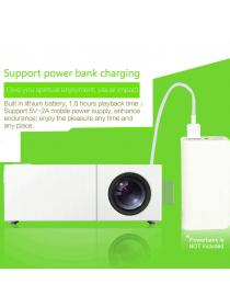 Mini Mobile Projector, Deeplee Portable LED Pocket Projector with Rechargeable Battery USB/AV/HDMI support TV Box Flash