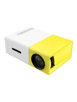DeepLee Mini Projector, DP300 Portable LED Projector support PC Laptop USB Stick USB/SD/AV/HDMI Input for Video/Movie/Game/Home Theater Video Projector – Yellow