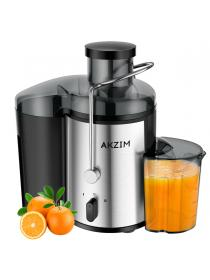 Fruit Juicer AKZIM Juice Extractor with Non-Slip Feet,Dual Speed Centrifugal Juicer Machine,Anti-Drip,BPA Free